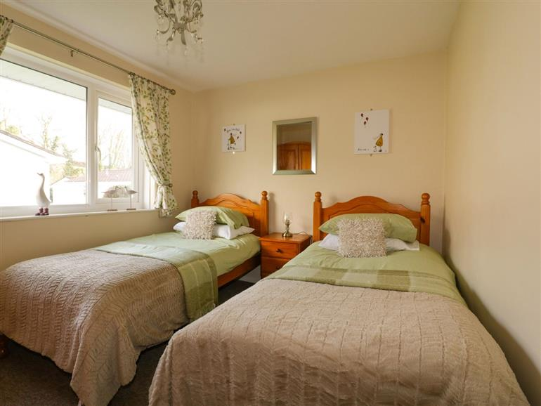 This is a bedroom at Blue Sky Cottage near Liskeard