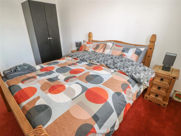 One of the bedrooms at Ellis House in Haworth