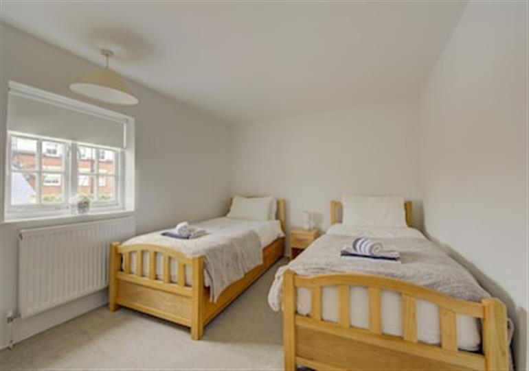 One of the bedrooms at Lavender Cottage, Youngs Yard in Southwold