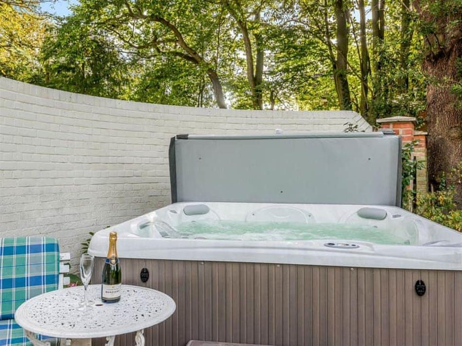 Hot tub at Braydeston House, Brundall, near Norwich