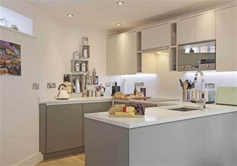 This is the kitchen at 1 White Point Southwold