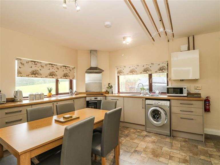 This is the kitchen at Ailsa Cottage near Fort Augustus