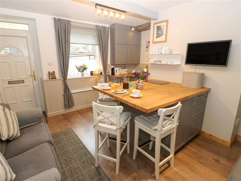 This is the kitchen at Bell Cottage in Holmfirth