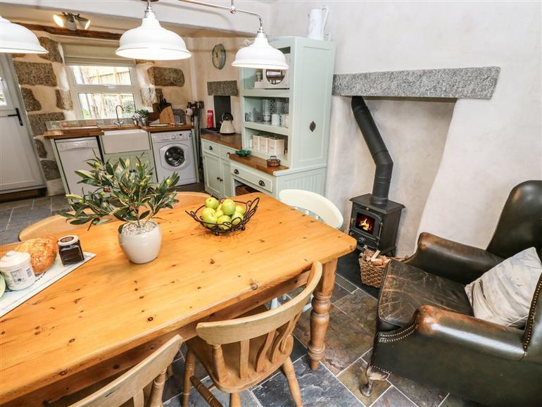 This is the kitchen at Hazel Cottage in Helston
