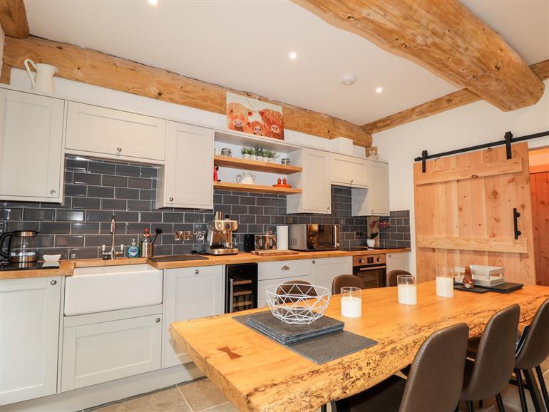 This is the kitchen at Pine Marten Lodge near Nethy Bridge