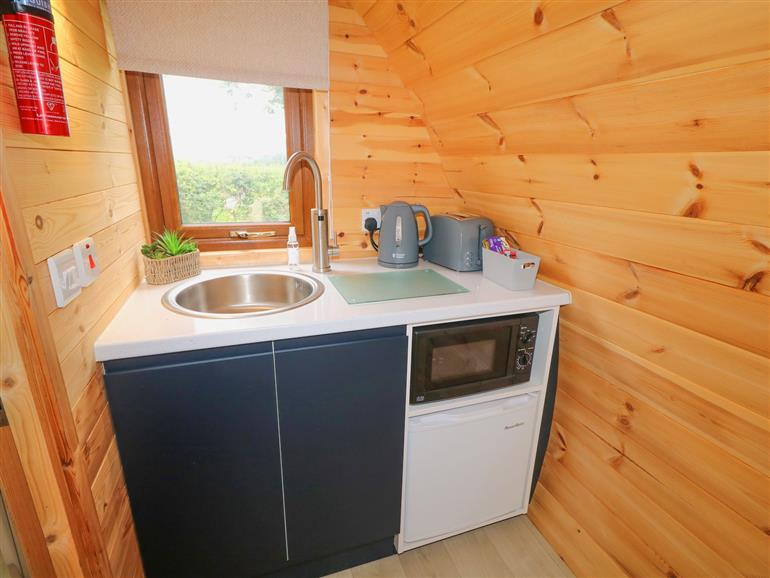 This is the kitchen at Pod 3 in Ballycastle