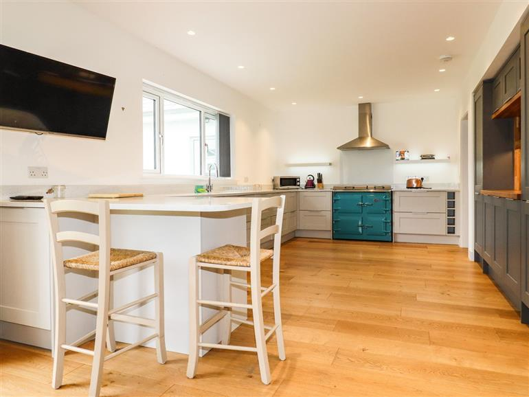 The kitchen at Woodlands Close in Padstow