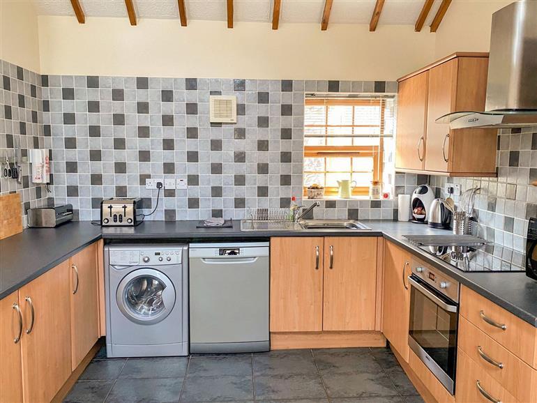 The kitchen at Y Bwthyn near Y Felinheli
