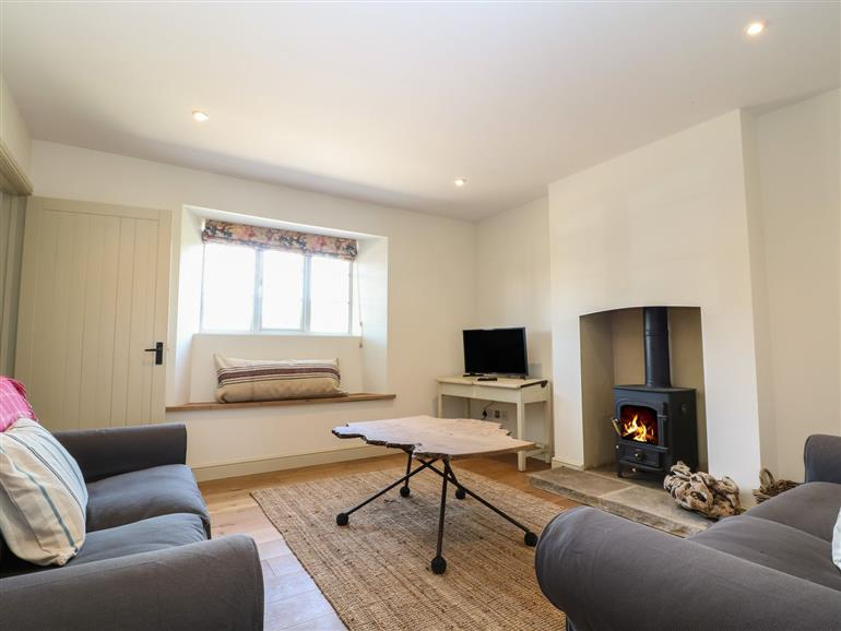 The living room at 1 Manor Farm in Hook Norton