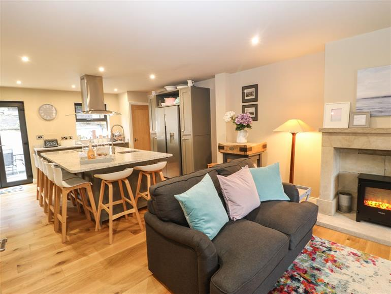 The living room at 1 Stansfield Mews in Lothersdale near Cononley