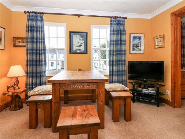 The living room at 1 The Cross in Dunkeld