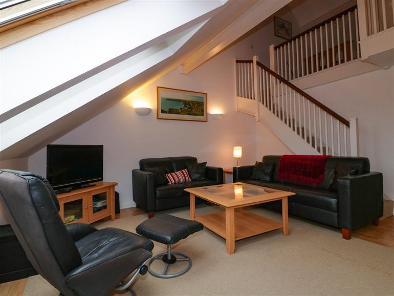 This is the living room at 10 Brunel Quays in Lostwithiel