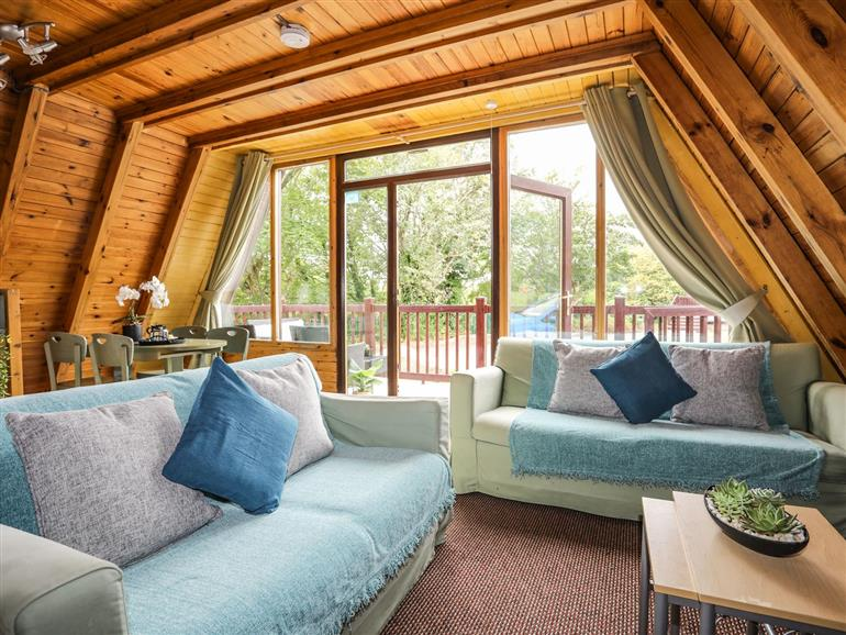 The living room at 171 Snowdonia View in Chwilog