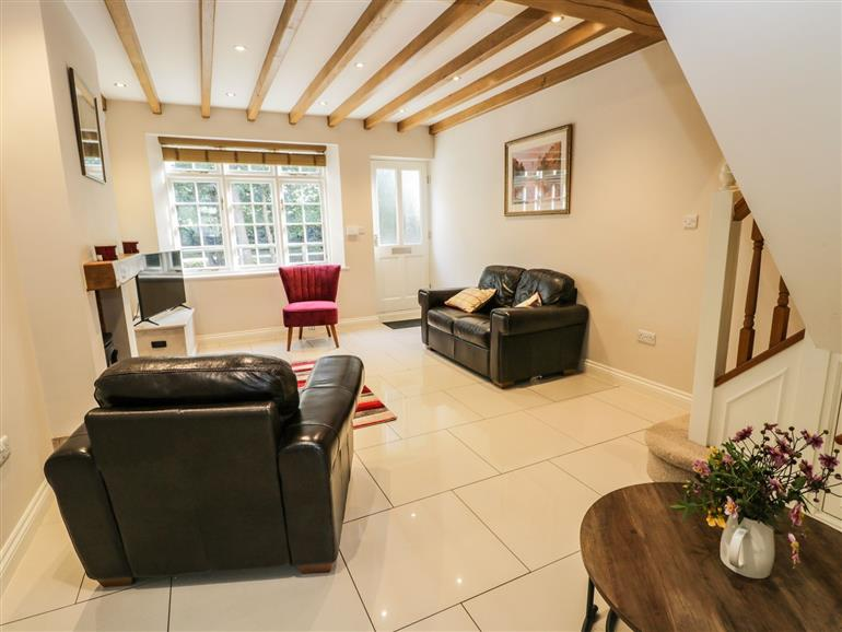 The living room at 18 High Street in Swainby