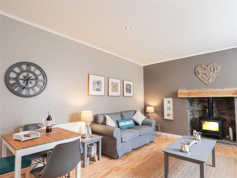 The living room at 18b New Street in Portknockie