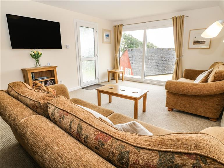 The living room at 28 The Manor in Kilkhampton