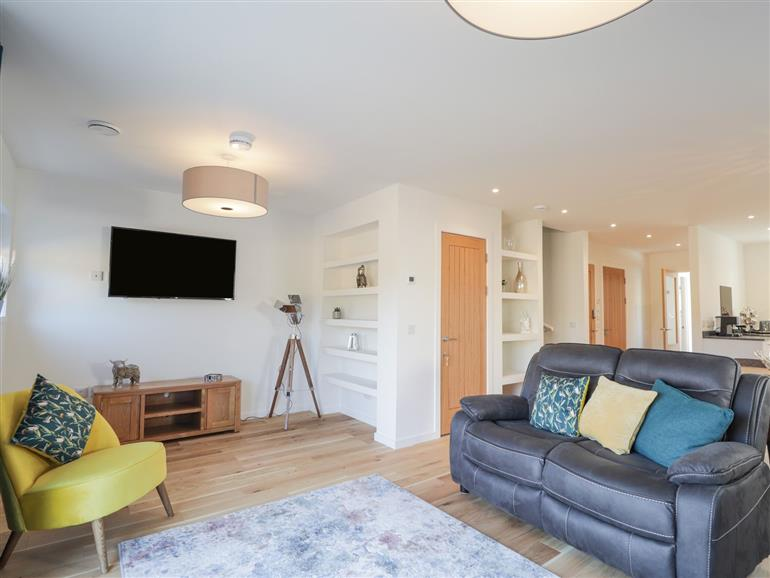 The living room at 35 Carn Glas in Drumnadrochit