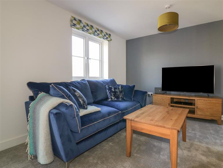 The living room at 4 Trerammet Crescent in Tintagel