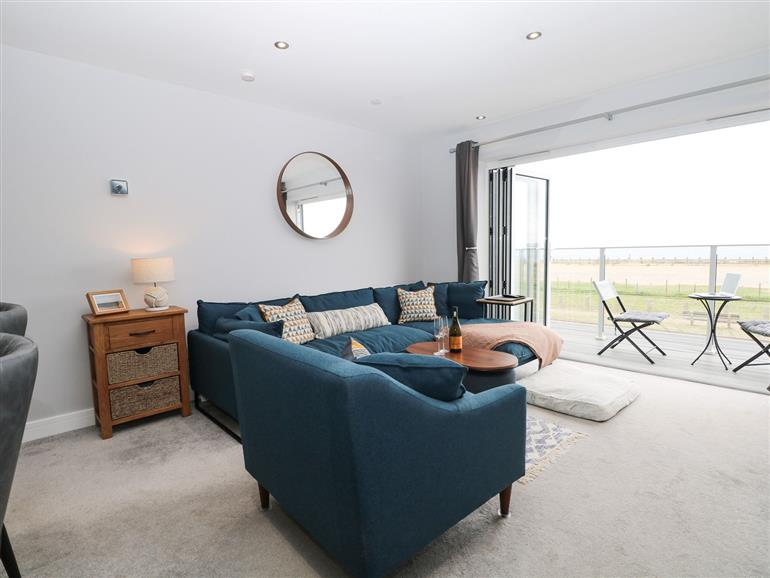 This is the living room at 46A Sea Front in Hayling Island