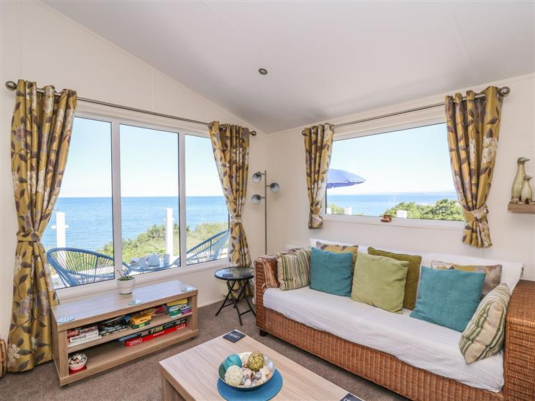 This is the living room at 8 Harbour View in New Quay