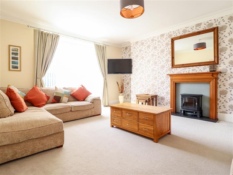 The living room at Awel-Deg in Llanbedr