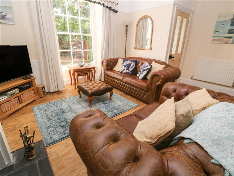 The living room at Beacon Lodge in Mevagissey