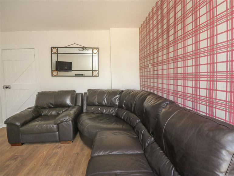 The living room at Blue Sky Cottage in Drummore