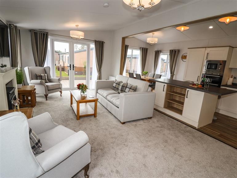 This is the living room at Bramblewick near Staithes