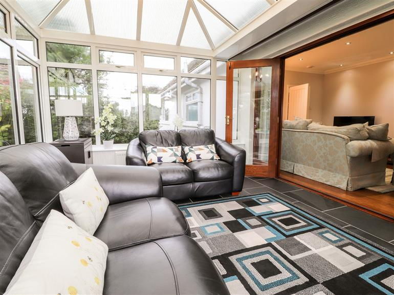 The living room at Bryn Awel House near Pembroke