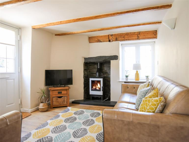 This is the living room at Bryn Coed in Porthmadog