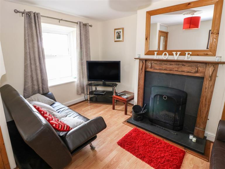 This is the living room at Bwthyn Bach near Talsarnau near Penrhyndeudraeth