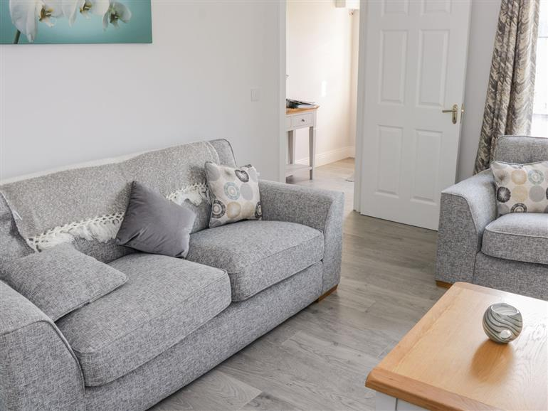 The living room at C64 Cahermore Holiday Village in Enniscrone County Sligo