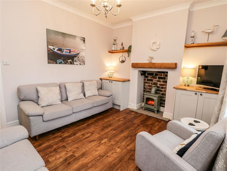 This is the living room at Captains Cottage in Whitby