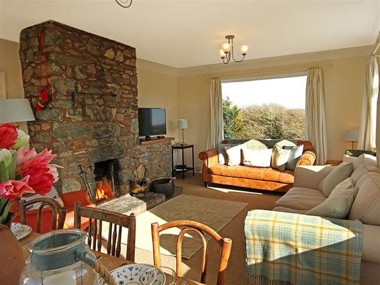 This is the living room at Cerrig in Rhoscolyn