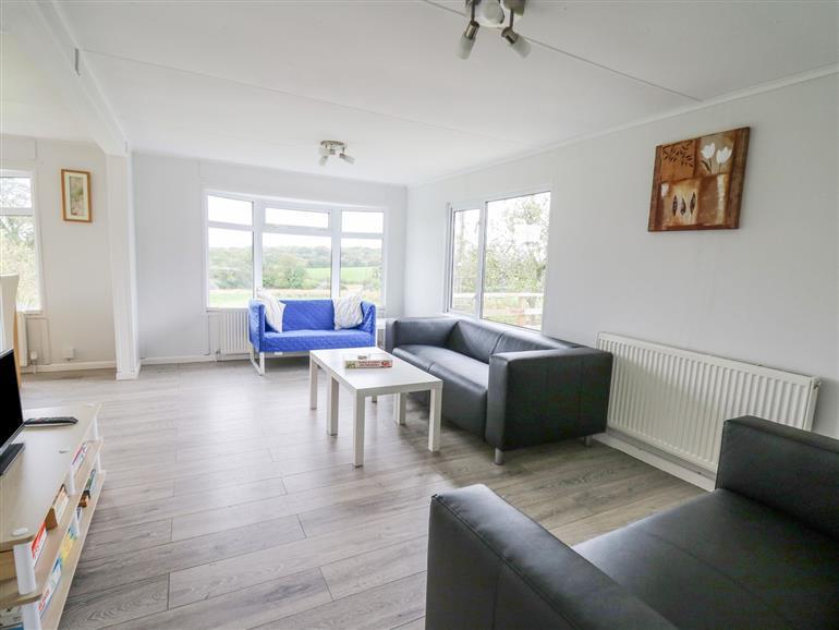The living room at Chalet Lan in Broad Oak near Llandeilo