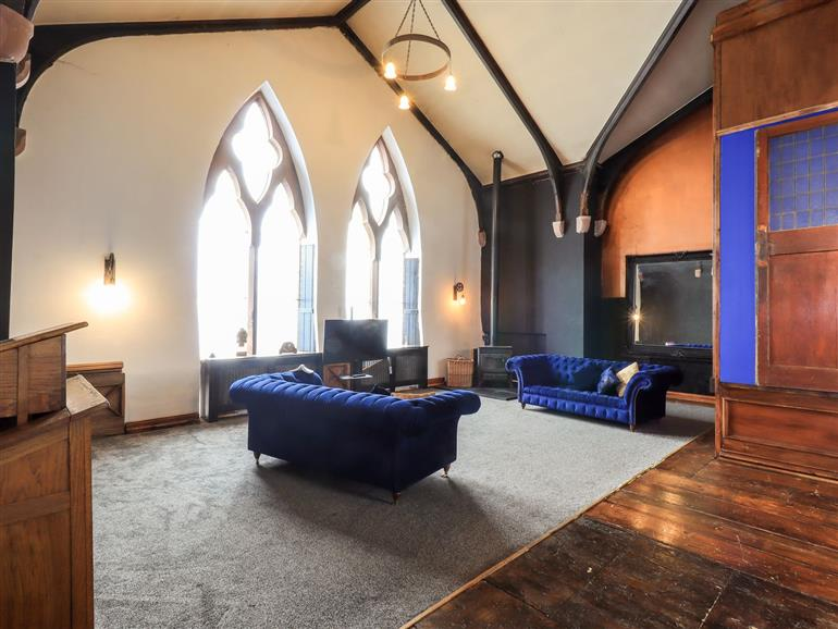 This is the living room at Church House in Ecclefechan