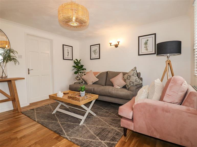 This is the living room at Clipper Cottage near St Austell