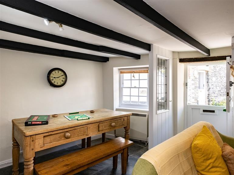 This is the living room at Cobweb in Port Isaac