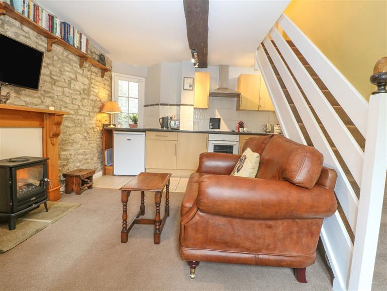 This is the living room at Coln Cottage in Stow-On-The-Wold