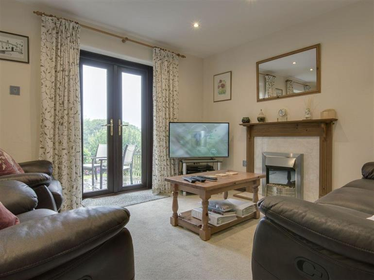 The living room at Columbine Cottage in Bude