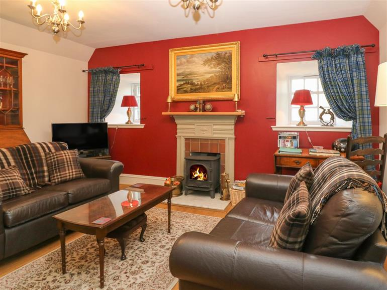 This is the living room at Courtyard Cottage in Drumoak near Peterculter