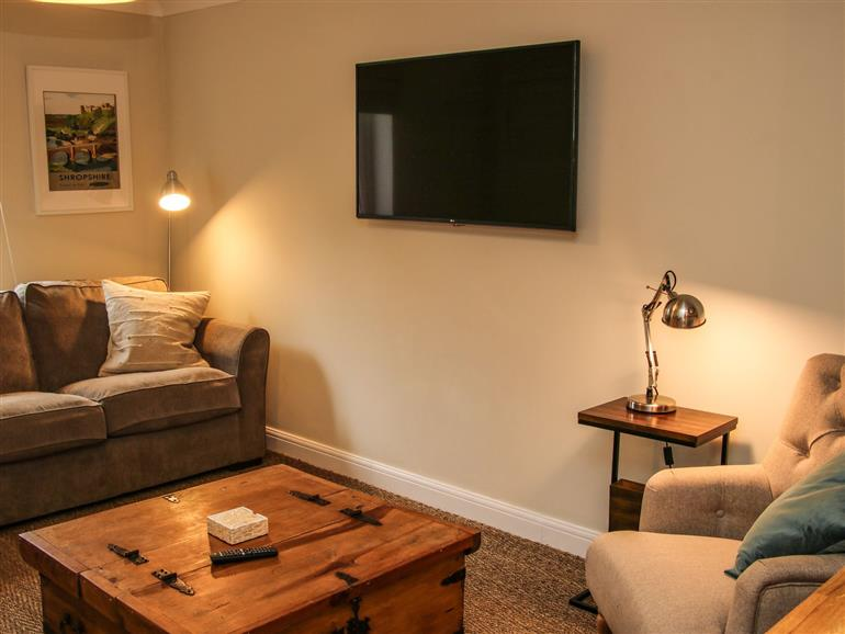 The living room at Courtyard Cottage in Ironbridge