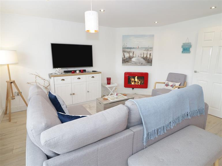 The living room at Cove House in Kinmel Bay