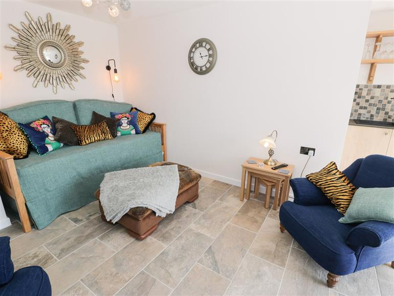 The living room at Drws y Gorlan in Llanerch-y-medd