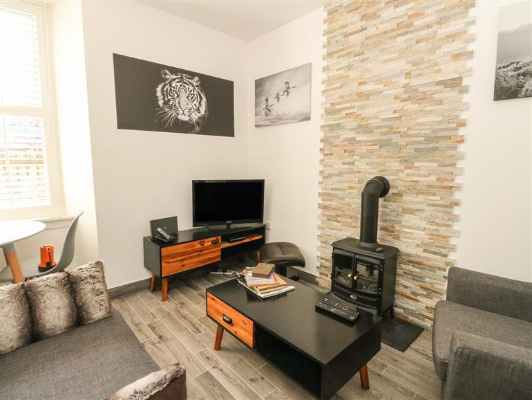 The living room at Flat A in Killin
