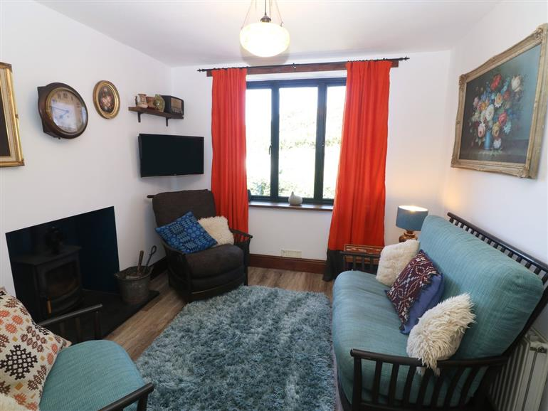 This is the living room at Gwel Y Don near Abersoch