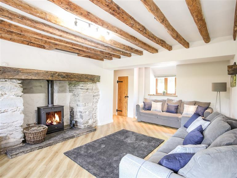 This is the living room at Hafotty Gelynen near Corwen