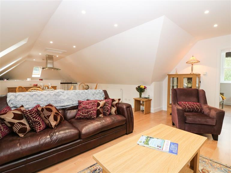 This is the living room at Hayloft in Mintlaw