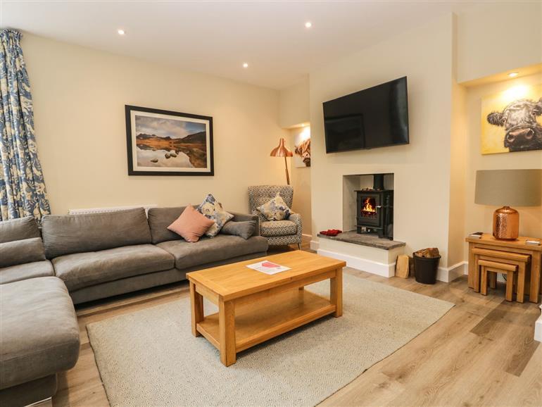 The living room at Home Farmhouse near Hawkshead