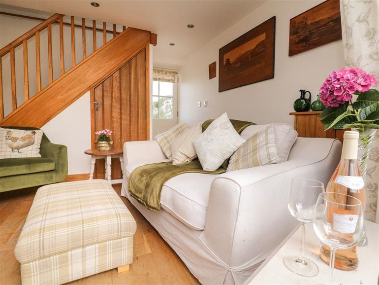 The living room at Horsepool Cottage Barn in Mellor near Marple Bridge